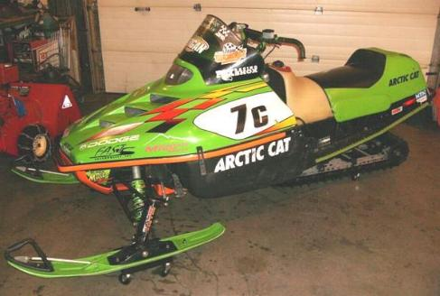 1999 AC Sno Pro 440 This Sled Was Added To My Collection In 2008 And Previously Raced By Blair Morgan Has Been Autographed Him Snow Cross